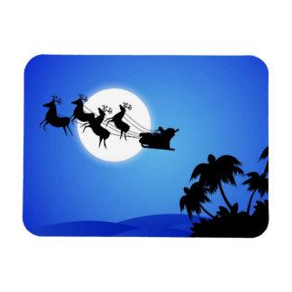 Santa Claus Tropical Christmas Tree Magnet