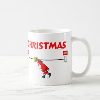 Santa Claus Turning On Christmas Mug