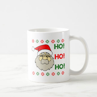 Santa Claus Ugly Christmas Sweater Ho Ho Ho Coffee Mug
