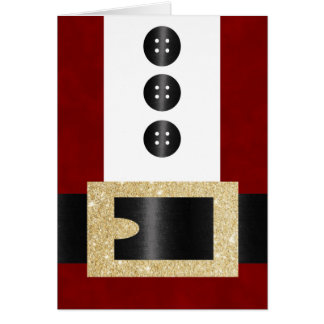 Santa Claus Uniform with Glitter Belt Card