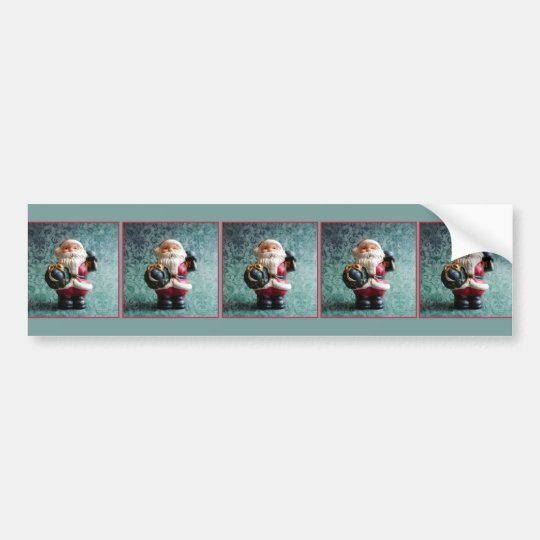 Santa Claus, Vintage Christmas Figure Bumper Sticker