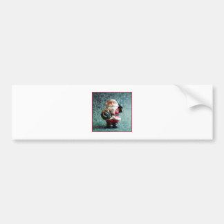 Santa Claus, Vintage Christmas Figure Bumper Sticker