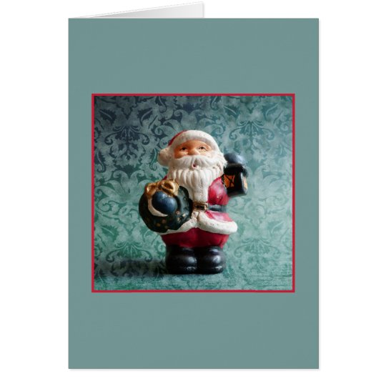 Santa Claus, Vintage Christmas Figure Card