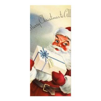 Santa Claus vintage illustration Customized Rack Card