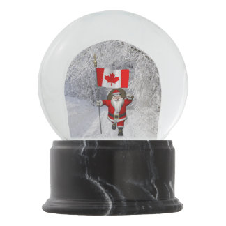 Santa Claus Visiting Canada Snow Globe