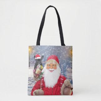 Santa Claus w Christmas Gifts French Bulldog Tote Bag