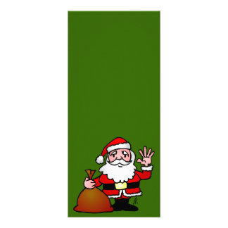 Santa Claus waving Rack Card