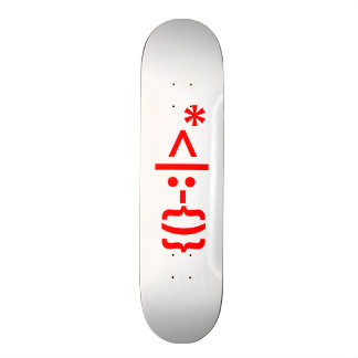 Santa Claus with Beard Christmas Smiley Emoticon Skate Board Deck