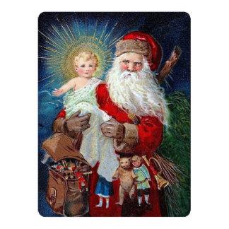 Santa Claus with Christ Child 17 Cm X 22 Cm Invitation Card