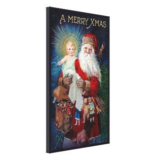 Santa Claus with Christ Child Canvas Print