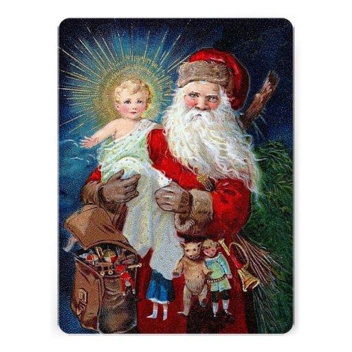 Santa Claus with Christ Child Invitation