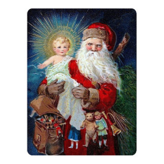 Santa Claus with Christ Child 6.5x8.75 Paper Invitation Card