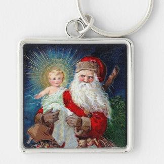 Santa Claus with Christ Child Keychains