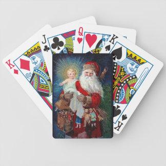 Santa Claus with Christ Child Poker Deck