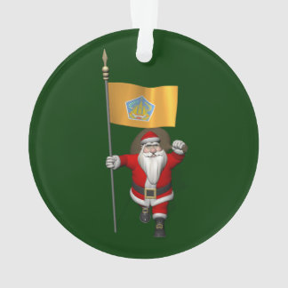 Santa Claus With Ensign Of Bali