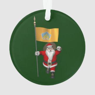 Santa Claus With Ensign Of Bali