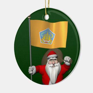 Santa Claus With Ensign Of Bali Ornaments