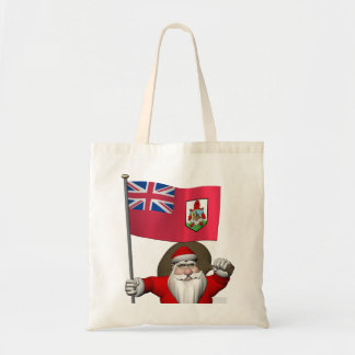 Santa Claus With Ensign Of Bermuda