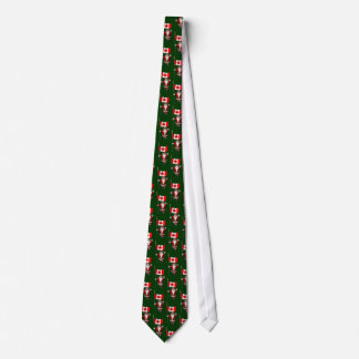 Santa Claus With Ensign Of Canada Tie