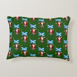 Santa Claus With Ensign Of Scotland Decorative Cushion