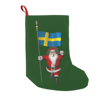 Santa Claus With Ensign Of Sweden