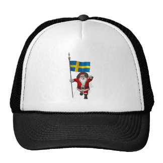 Santa Claus With Ensign Of Sweden Cap