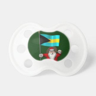 Santa Claus With Ensign Of The Bahamas Pacifier