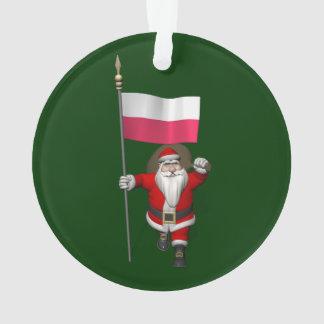 Santa Claus With Flag Of Poland