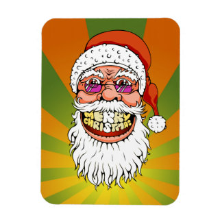 santa claus with merry christmas smile magnet