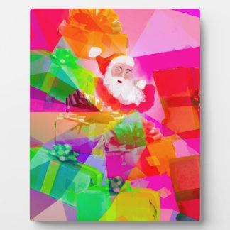 Santa Claus With multicolor gifts Plaque