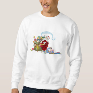 Santa Claus With Sack Of Toys Sweatshirt