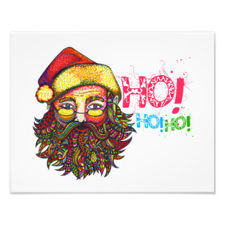 Santa Claus with Text Photo Print