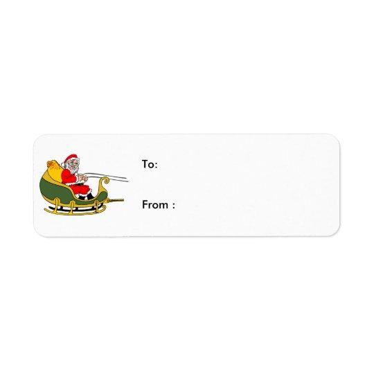 santa clause Christmas Labels