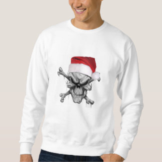 Santa Clause Christmas Skull Sweater