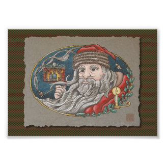 Santa Clause & Pipe Photographic Print