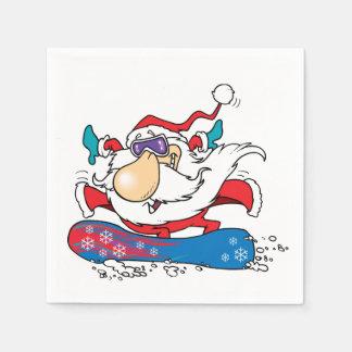Santa clause Snowboarding Paper Napkin