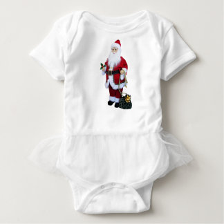 Santa Clause with Bag Baby Bodysuit