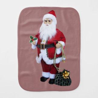 Santa Clause with Bag Burp Cloth