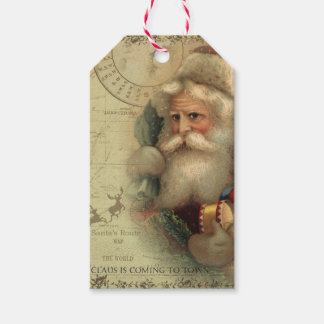 Santa Claus's World Route Map Gift Tag