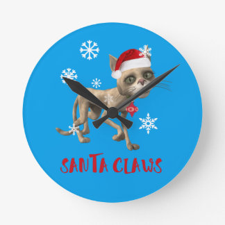 SANTA CLAWS! CLOCKS