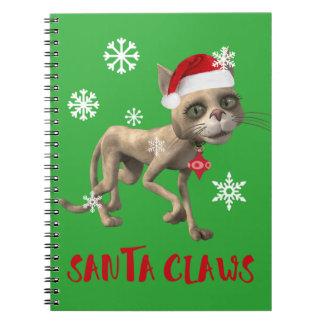 SANTA CLAWS! SPIRAL NOTEBOOK