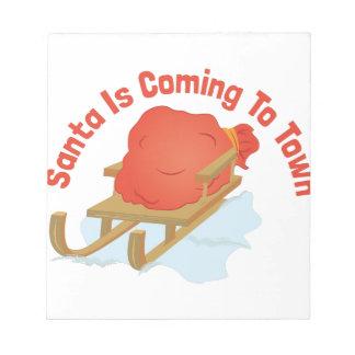 Santa Coming Notepad