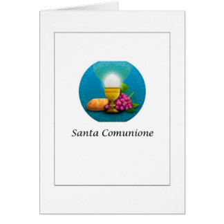 Santa Comunione - Holy Communion in Italian Card