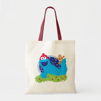 Santa Cookie Monster Budget Tote Bag