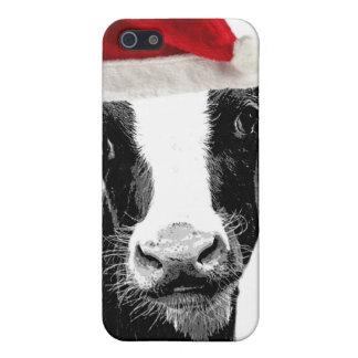 Santa Cow - Dairy Cow wearing Santa Hat iPhone 5/5S Case