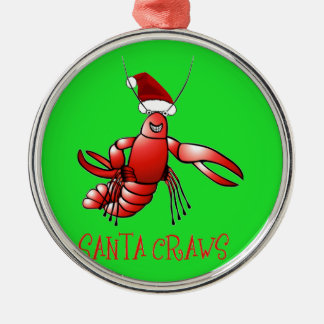 Santa Craws - Crawdad Christmas Ornament