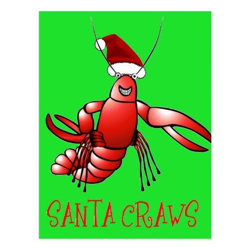 Santa Craws - Crawdad Post Card
