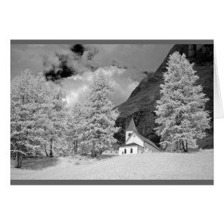 Santa Croce Sanctuary in the Dolomites, Italy Card