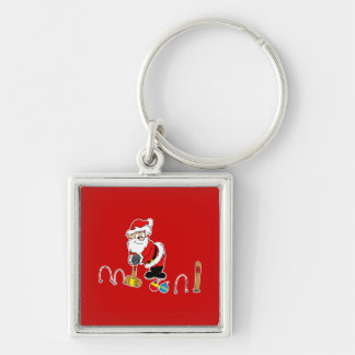 santa croquet with ornaments key chain