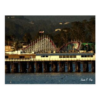 Santa Cruz Boardwalk & Wharf Postcard